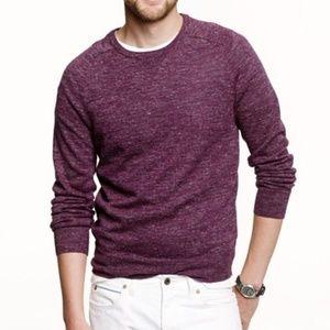 J. Crew Men's Purple Crewneck Sedona Sweater S